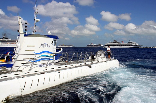 Atlantis Touring Under The Waves In Cayman Islands